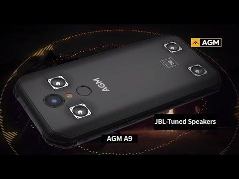 AGM A9 бронебойный монстр звука! Смарт с 4-мя динамиками от JBL который не боится воды и ударов!