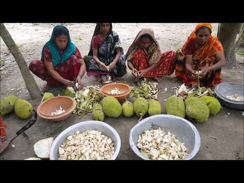 21 Pieces Jackfruits & Chickpea Prepared / Cooking By Lots Of Villager For Charity Works Foods