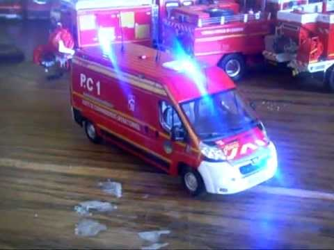 Miniature pompier pc avec leds fonctionnels youtube - Playmobil samu ...