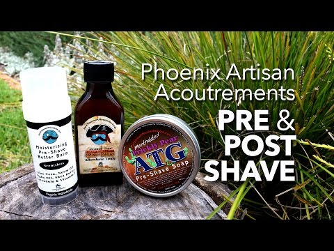 Phoenix Artisan Accoutrements Pre- Post Shave - Review