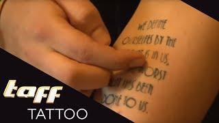 RECHTSCHREIBFEHLER in TATTOO? – COVER-UP mit Sarah Kaltenhäuser | taff Tattoo | ProSieben