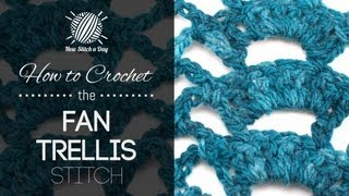 How To Crochet The Fan Trellis Stitch (left Handed)