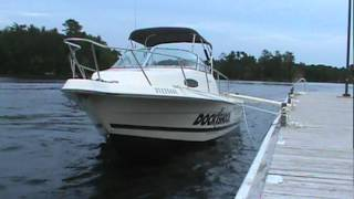 huge wake dont try this with your boat unless you have a dock shock