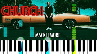 MACKLEMORE FEAT XPERIENCE - CHURCH - Piano tutorial[chords][Synthesia]