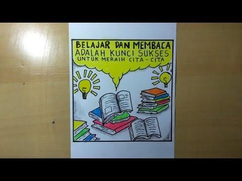 Cara Membuat Poster Pendidikan Poster Ajakan Membaca Youtube