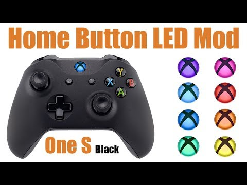 Extremerate Xbox One S BLACK Controller Home Button LED Mod Toturial