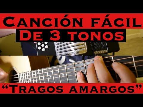 Tragos de Amargo Licor - Cancion Facil de 3 Tonos para Principiantes (Tutorial Guitarra)