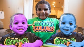 GOO GOO GAGA CHANGES GAGA BRO COLORS! LEARN THE COLORS WITH BALL PIT SHOW