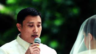 de Leon - Jalosjos Dapitan Wedding Vows | Dakak and Rizal Shrine