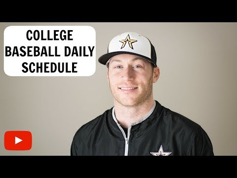 Day in the Life of a College Baseball Player