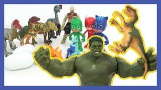 파자마삼총사와 헐크의 타이니소어 구조 작전 -  PJ Masks Hulk dinosaur Episodes - 레오팡 LEO PANG - 공룡동요 공룡송 키즈송동요