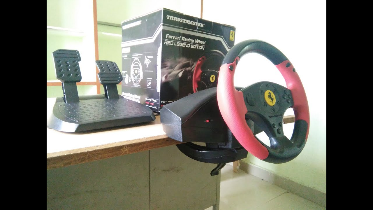 Unboxing Thrustmaster Racing Wheel For Ps3 Pc Ferrari Legend Edition Red Youtube