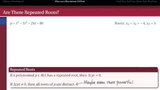302.I.4b: Discriminants - What Can They Tell Us?