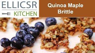 Quinoa Maple Brittle