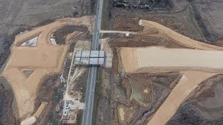 строительство ЦКАД. Развязка с Калужским шоссе. Апрель 2017