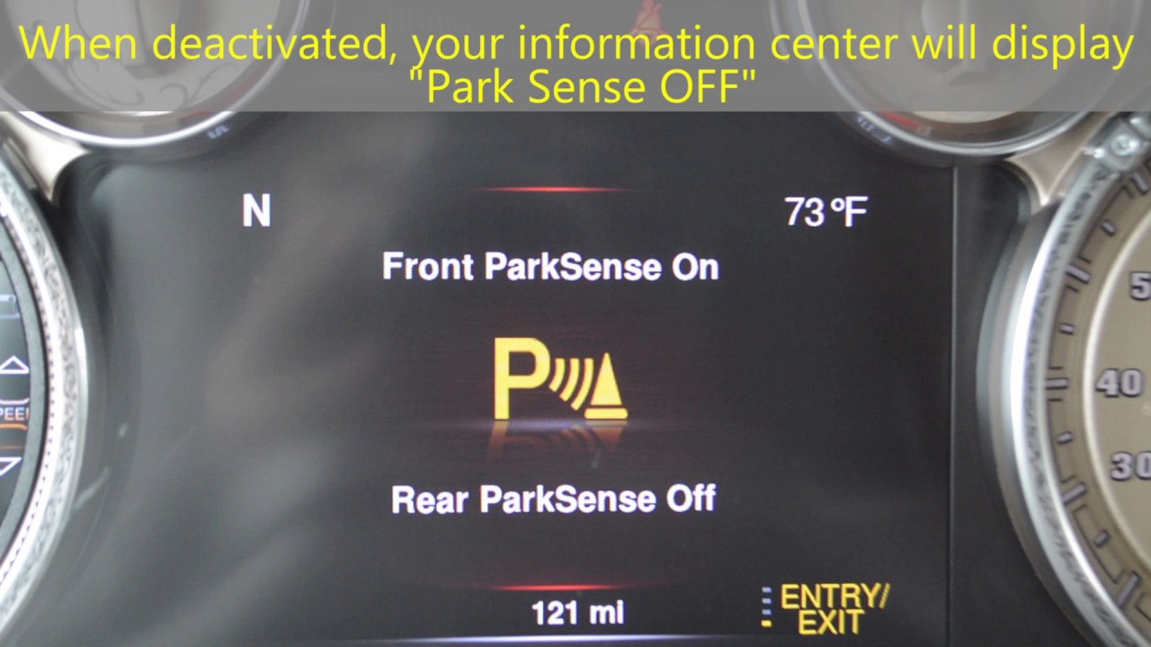 How To Disable Enable Your Vehicles Park Sense System Youtube 2006 Tahoe Q7 Fuse Box