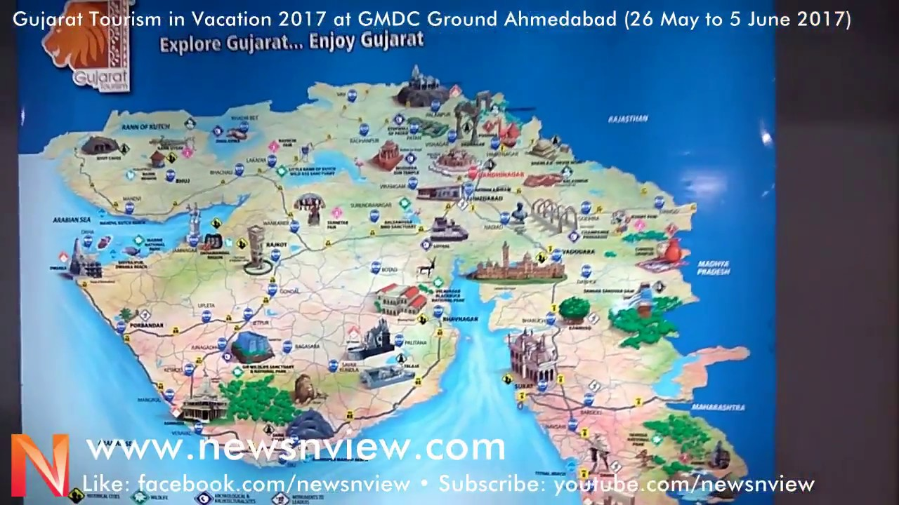 map of gujarat tourist places Gujarat Tourism Stall In Vacation 2017 At Gmdc Ground Ahmedabad map of gujarat tourist places