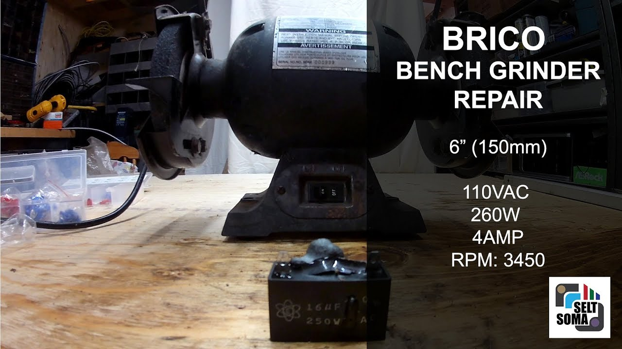 Bench Grinder Repair - Capacitor Replacement on