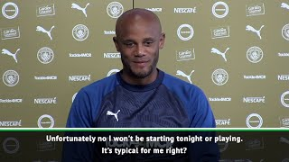 Kompany claims it's typical of him to miss his own testimonial game