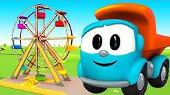 Leo Junior Zeichentrickfilm. Leo Lastwagen baut ein Riesenrad.