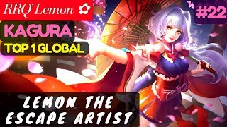 Lemon The Escape Artist [Top Global 1 Kagura] | RRQ`Lemon ✿ Kagura Gameplay #22 Mobile Legends