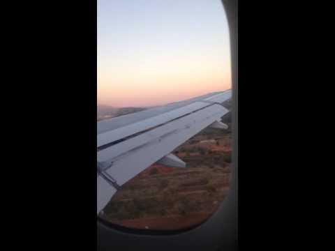 AIRBUS A320 LANDING WING VIEW   Eleftherios Venizelos Athens   COBALT AIR