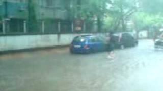 Rains flood Mumbai, Santacruz. 14th July, 2009