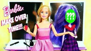 Barbie Kuaför Salonu - Monster High Müşteri Oluyor Ve Kuaför Salonu El Sanatları