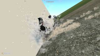 Crash test Audi A8 - 350km/h[220mp/h] - BeamNG [slowmotion]