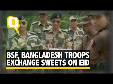 BSF And Border Guards Bangladesh Exchange Sweets On Eid