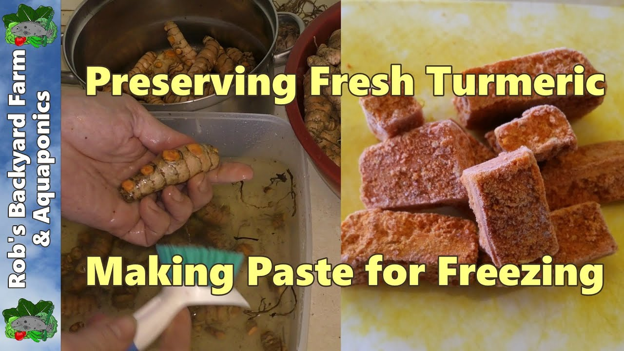 how to make fresh turmeric paste