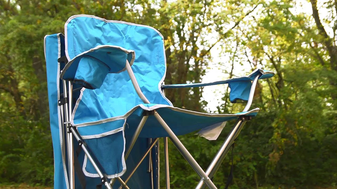 Folding Canopy Chair Lowes Card Table And Chairs Bravo Sports Quik Shade Youtube