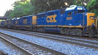 Four EMD's and One GE Locomotive On CSX Q372