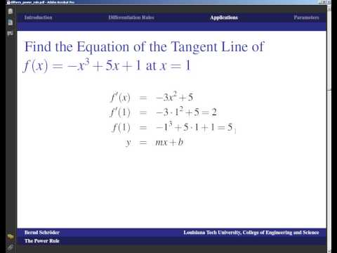 Concise Modular Calculus [13/97]: Power Rule (1/8 on Differentiation Formulas)
