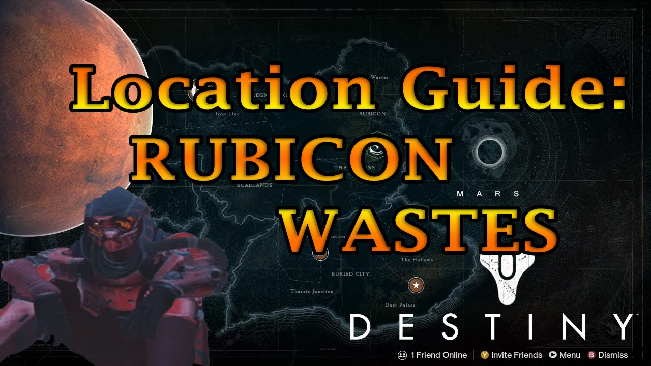 Destiny Where Is The Rubicon Wastes Mars Locations Step By
