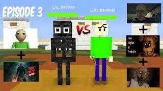 Monster School : Baldi's Jason Granny Grandpa FNAF Episode 3 (MEME BATTLE) - Minecraft Animation