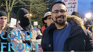 Cheesin at ANTIFA Protest (POLICE INVOLVEMENT!!!)