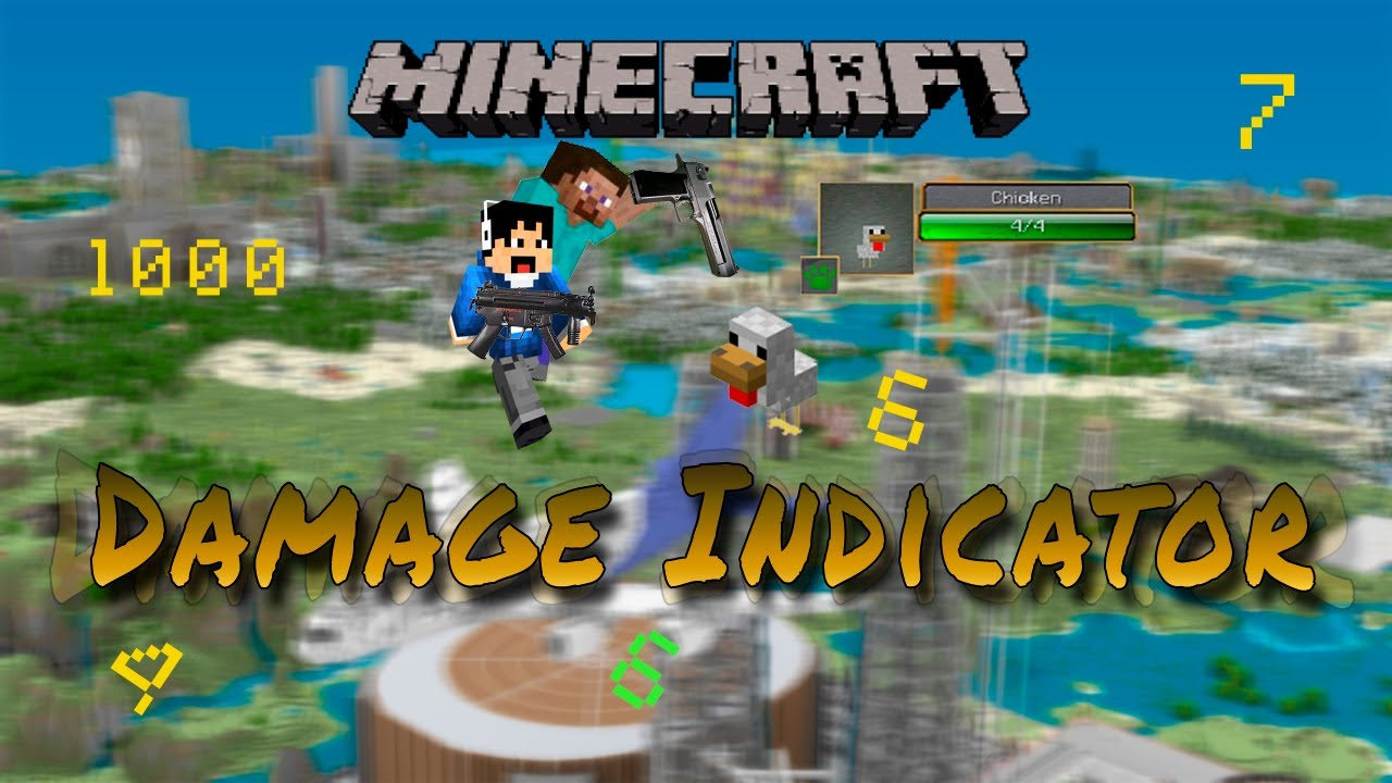 how to change damage indicators in minecraft