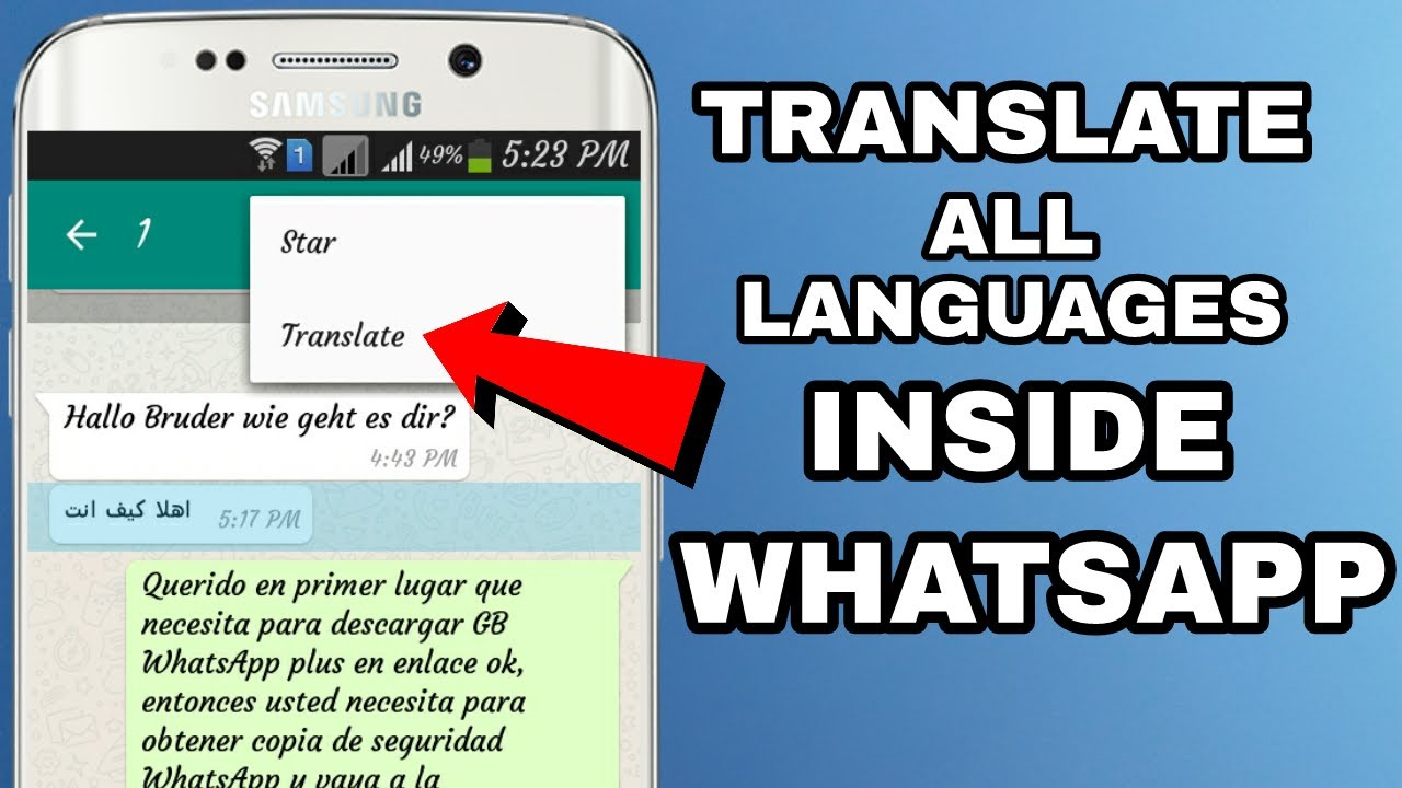 Whatsapp Message Translate In All Language Inside Whatsapp