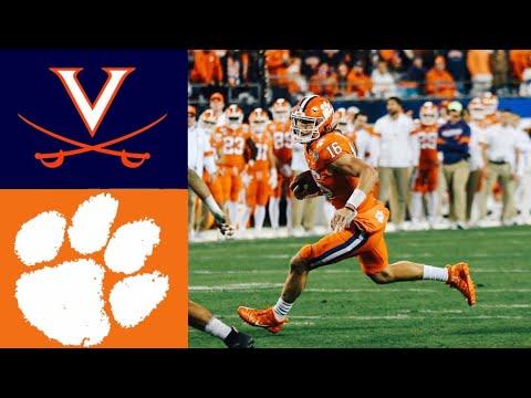 #23 Virginia vs #3 Clemson 2019 ACC Championship Highlights | College Football Highlights