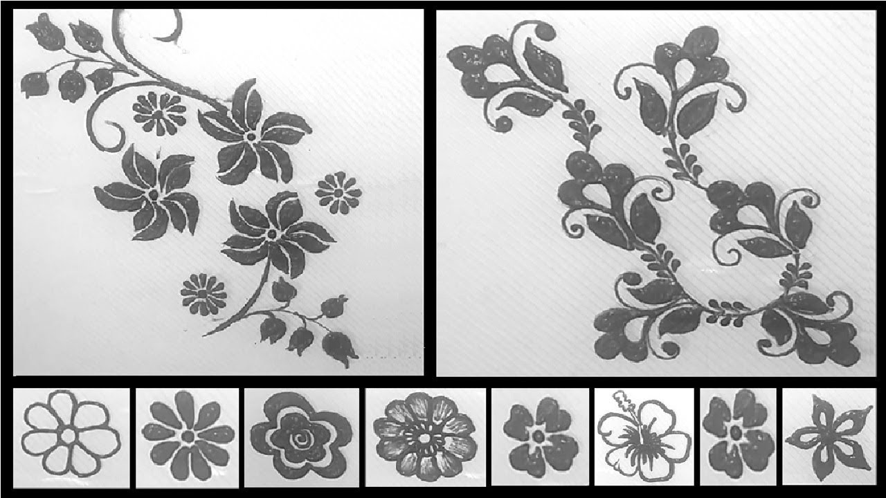Mehndi Tutorials Different Types Of Flowers Floral Varieties And