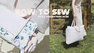 SEW WITH ME | TOTE & DRAWSTRING BAGS | MsRosieBea