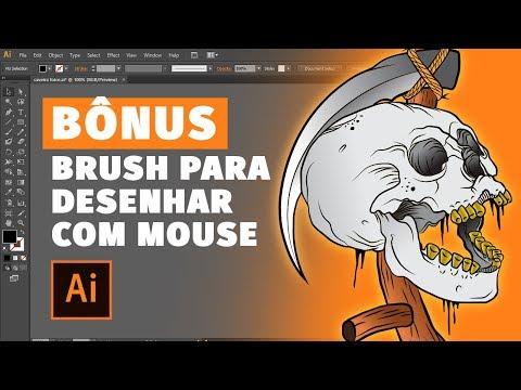 Como CRIAR BRUSH para DESENHAR COM MOUSE no Adobe Illustrator thumbnail