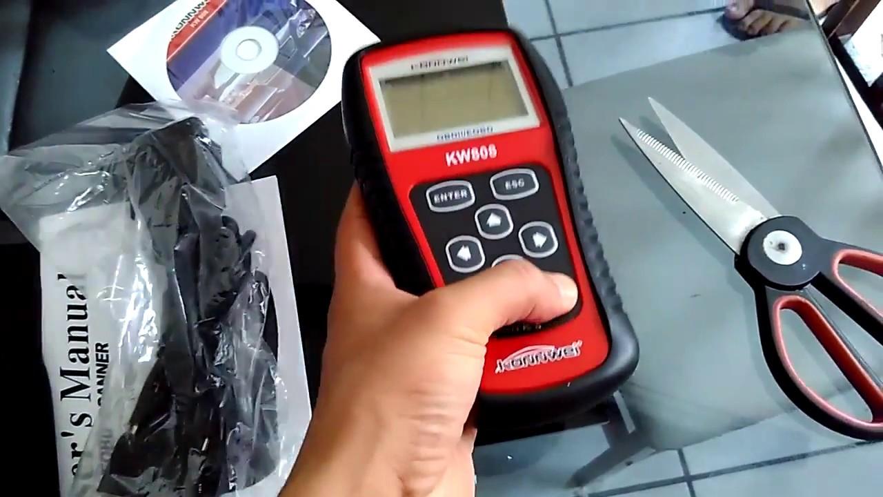 Unboxing - OBD2 Scanner KW808 Car Diagnostic Code Reader