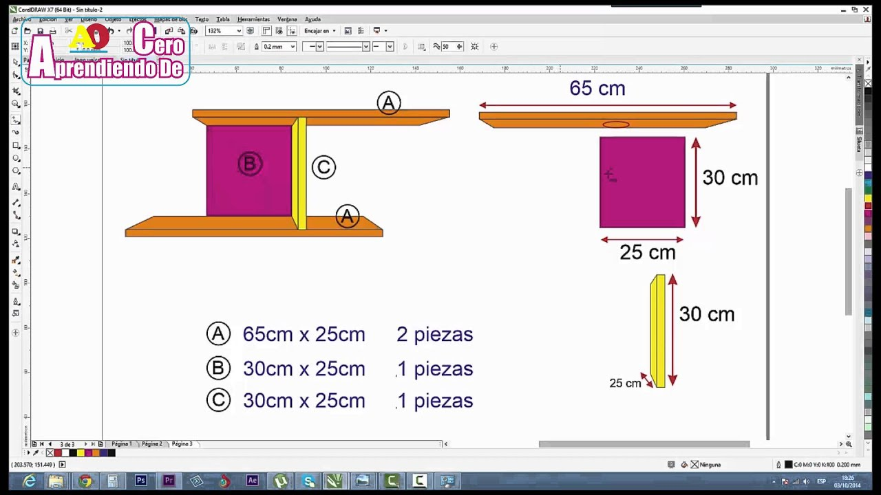 Plano de repisa decorativa de melamina youtube for Programa para hacer muebles de melamina gratis