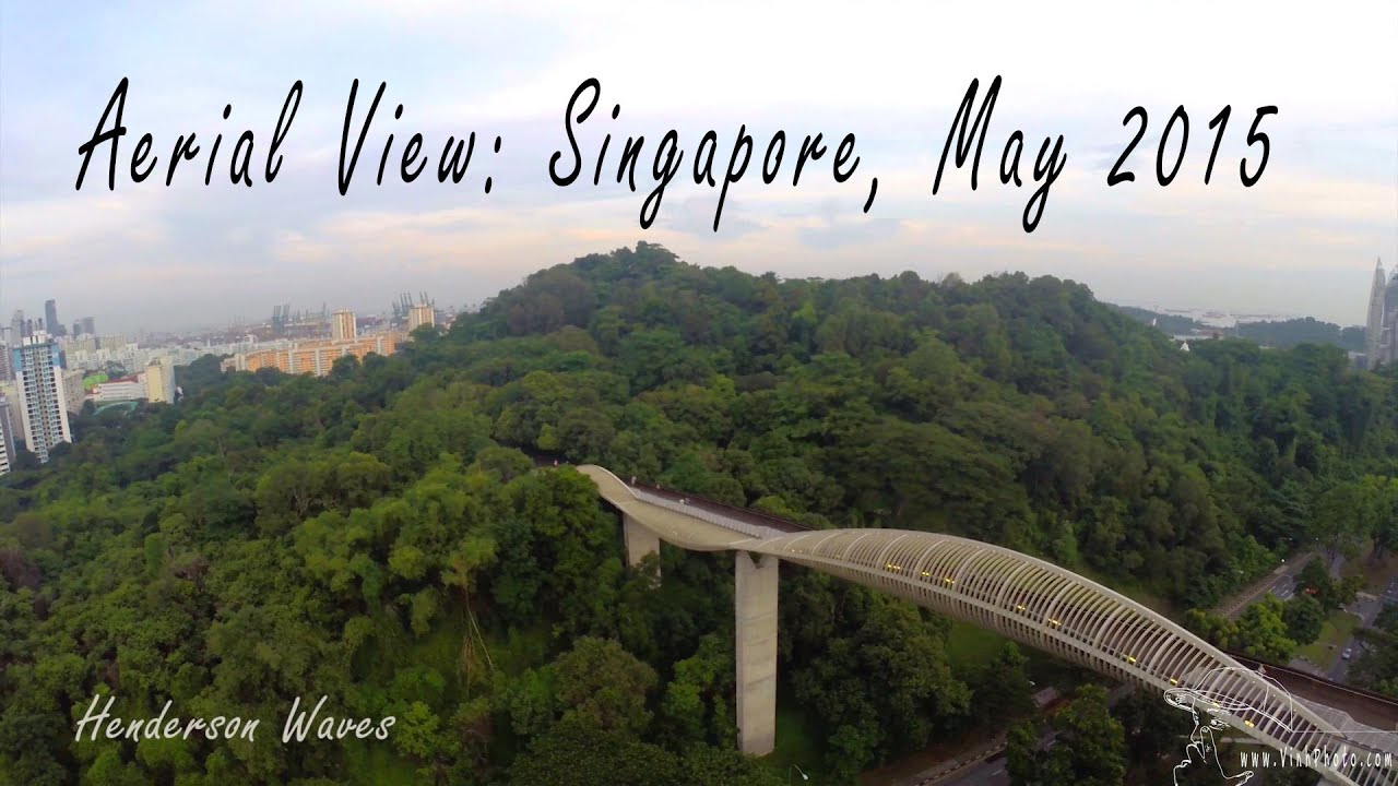 Aerial View 01: Singapore features Henderson Waves, Star Vista and