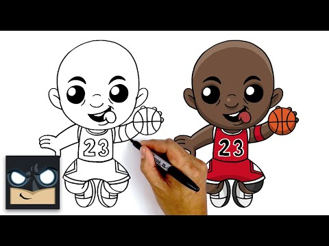 How To Draw Michael Jordan 🏀 Step By Step Tutorial