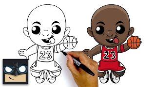 How To Draw Michael Jordan 🏀 Chicago Bulls
