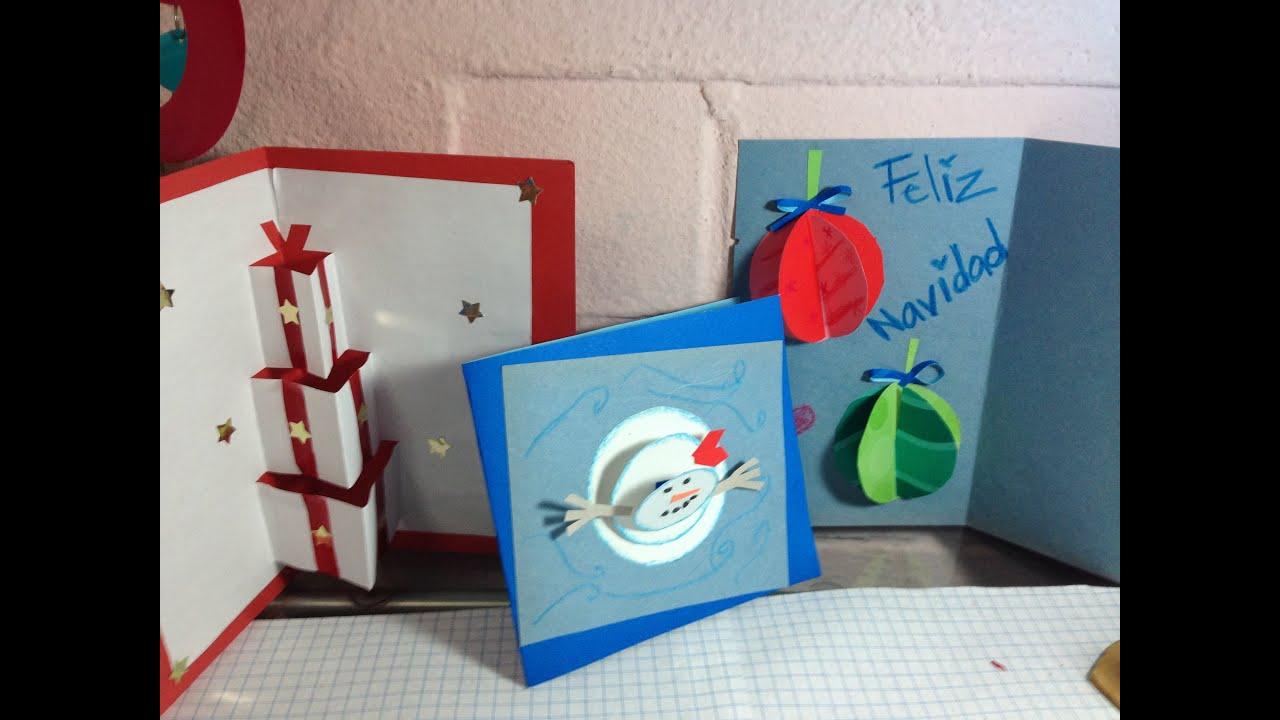 Diy haz tus tarjetas en 3d viyoutube - Como hacer una felicitacion de navidad original ...