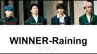Download Lagu WINNER - Raining (Korean Version) (Color Coded Lyrics ENGLISH/ROM/HAN).mp3